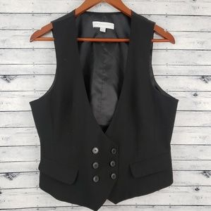New York & Co Black Double Breasted Vest Sz 14
